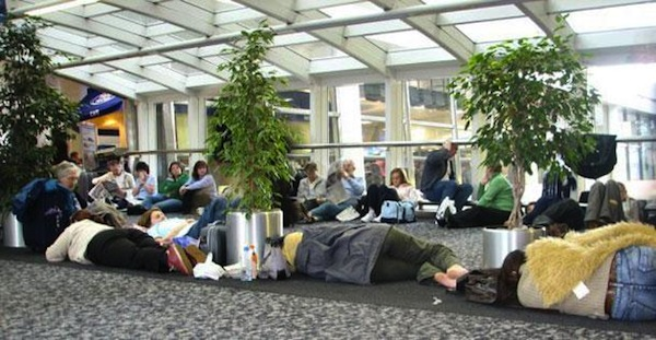 the-best-funny-pictures-of, , people sleeping at the airport