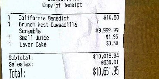 receipts, funny receipts, funny photos, funny pics, funny pictures, funny vids