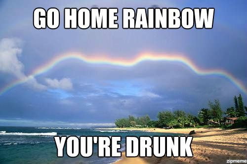Funny Rainbow Meme : Really funny memes go home you re drunk