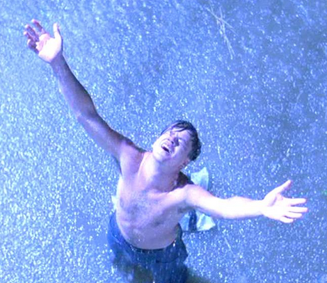 funny pictures, funny pics, funny vids, people who love rain, shawshank redemption, tim robbins, funny photos