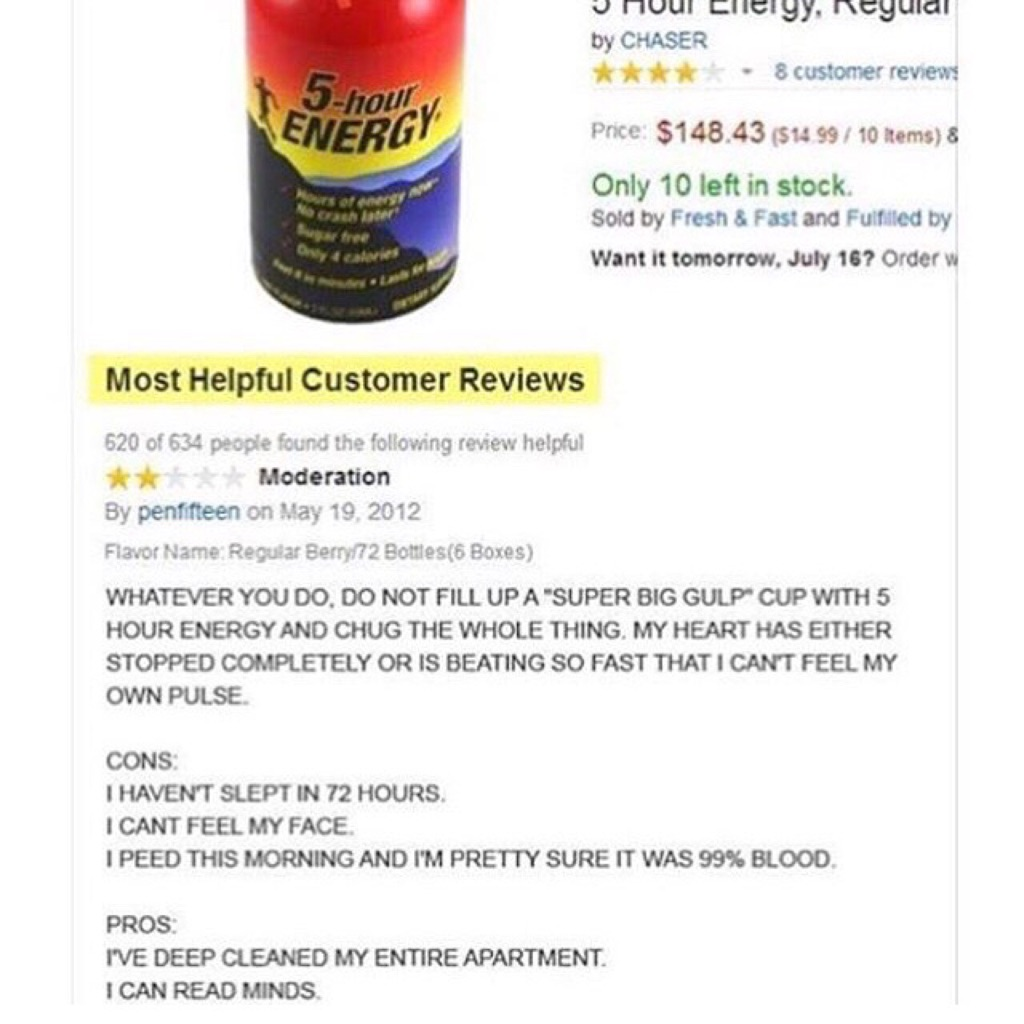 funny pictures, funny reviews, funny vids, funny pics, funny photos, 5 hour energy, amazon reviews, funny amazon reviews