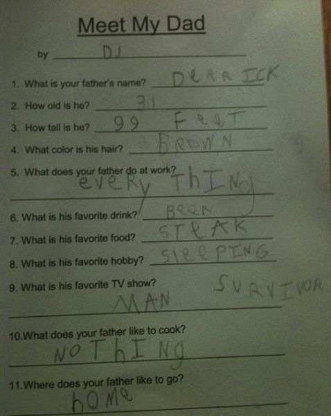 these kids test answers are the best test answers of all time