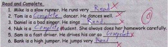 Kids Write Funny Things Hores