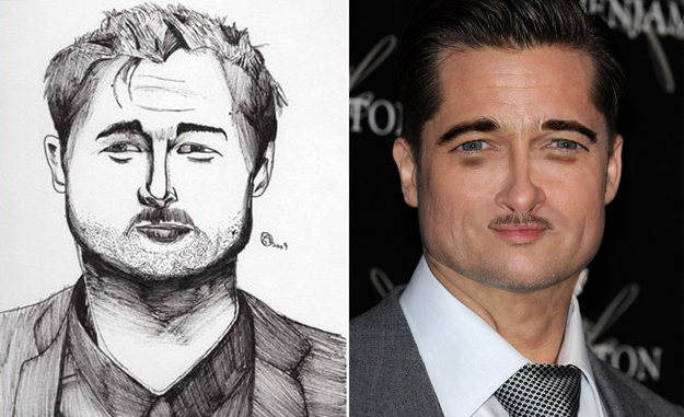 Bad celebrity fan portraits of people