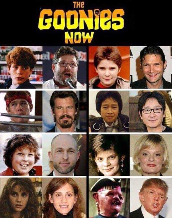 funny pics, funny pictures, funny photos, funny photo, funny pic, funny pics, funny vid, funny vids, the goonies, then and now, the goonies then and now, donald trump sloth, the goonies now, sloth, donald trump, sloth donald trump, the goonies donald trump, goonies now, goonies donald trump