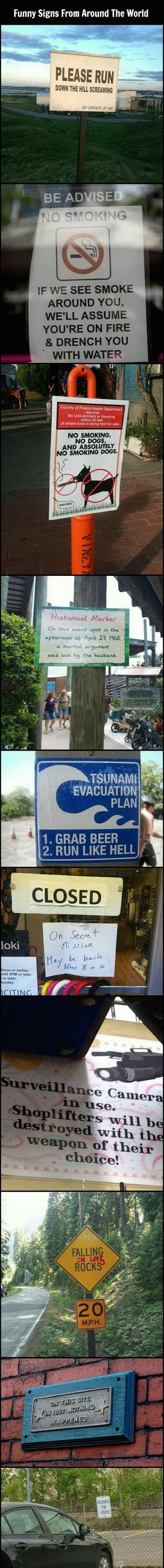 silly pictures of funny signs from around the world