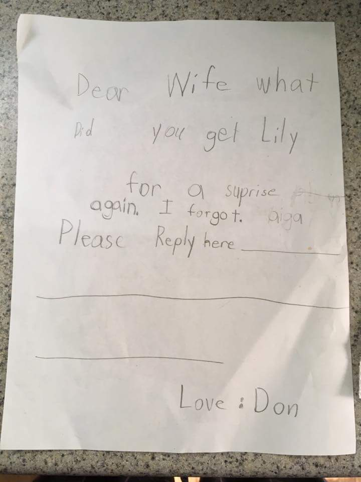 fake letter, letter from little girl, surprise letter, funny letter, funny letters, funny note, funny notes, funny note from kid, funny note to parents, funny letter to parents, funny kids letter, funny kids note, fake letter from a little girl