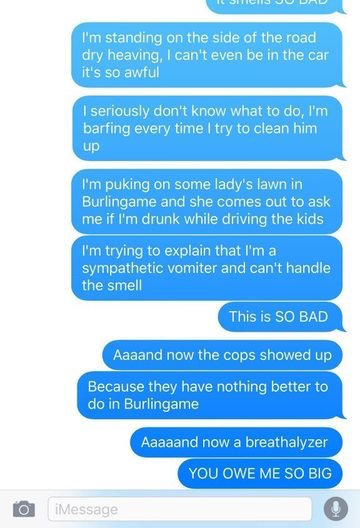 funny dad text, parent texts, mom texts, baby texts, texts about baby, funny text, funny texts, funny text message, funny text messages, baby vomit text, baby vomits text, baby vomit texts