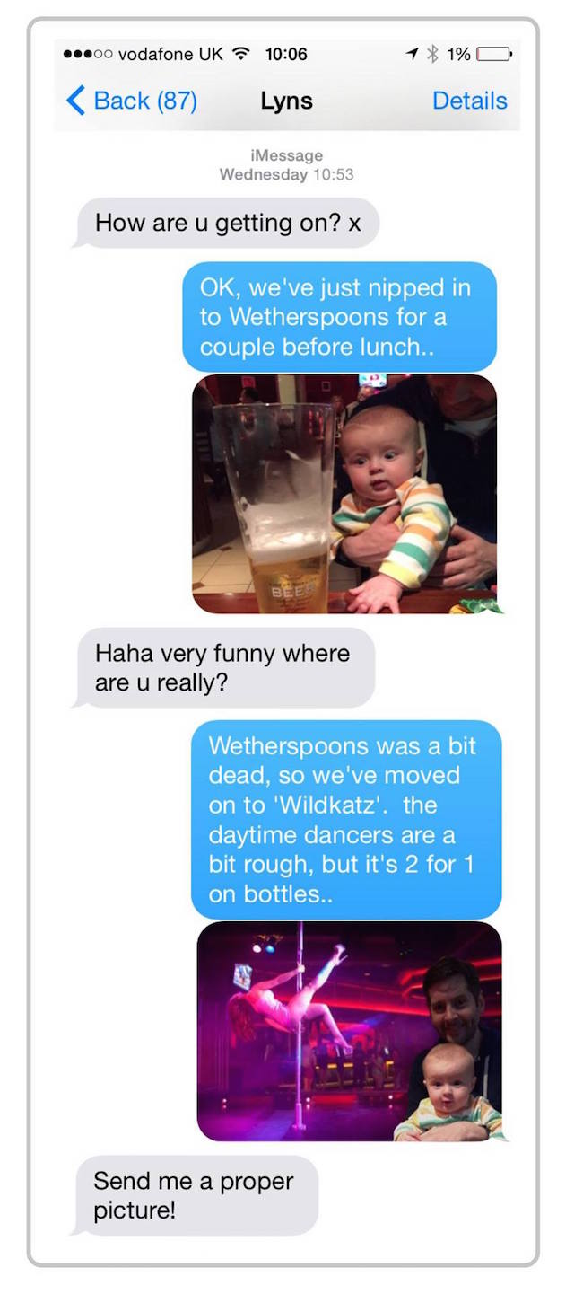 funny dad text, parent texts, mom texts, baby texts, texts about baby, funny text, funny texts, funny text message, funny text messages, husband responds to his wife's texts