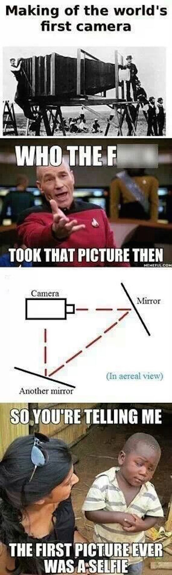 funny pictures of the first picture ever is a selfie