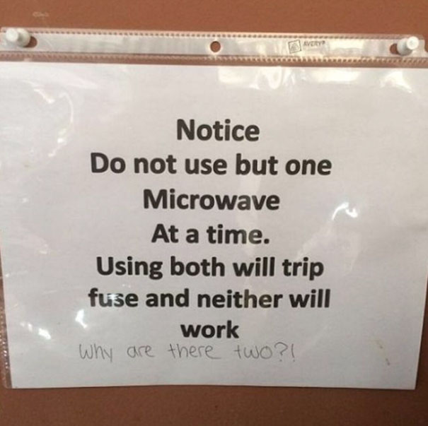 passive aggressive office kitchen notes