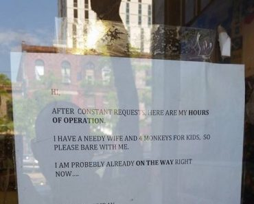 honest hours of operation sign, funny hours of operation sign, funny sign, funny signs, funny pic, funny pics, funny vid, funny vids, funny picture, funny pictures, funny photo, funny photos