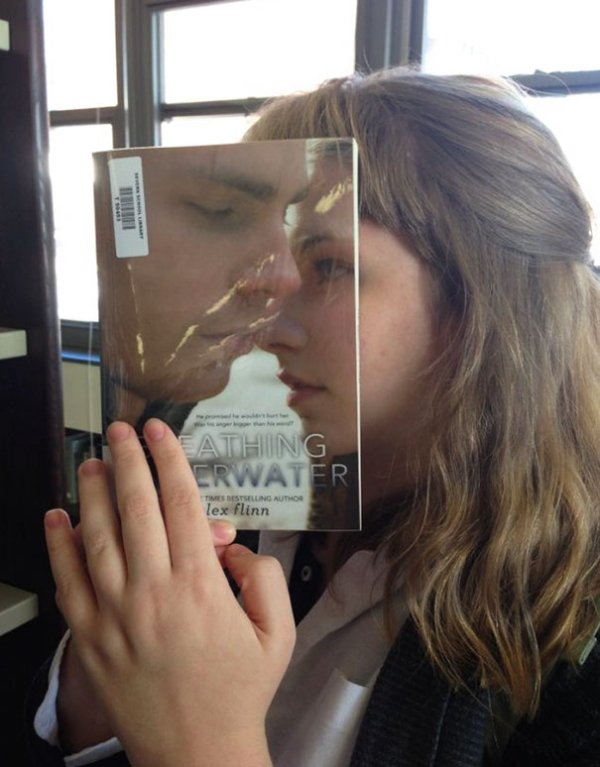 book covers, book cover faces, perfectly placed books, perfectly placed book covers, perfectly placed photos, perfectly timed photos, perfectly timed book covers, book covers on people's faces, face book covers, books on people's face