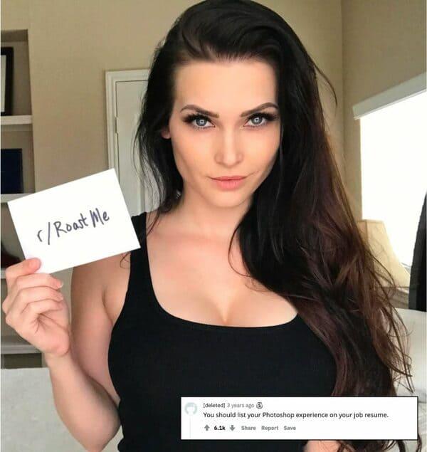 niece model roasted reddit roast me