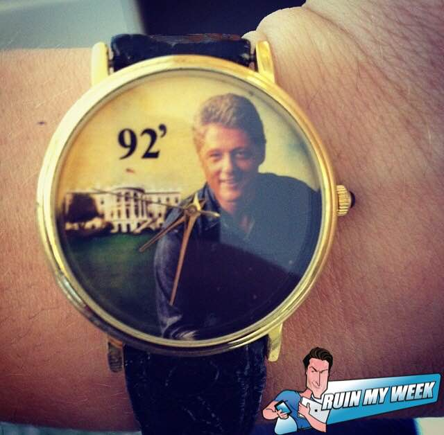 bill clinton watch, funny bill clinton, bill clinton funny, hillary clinton funny, bill clinton funny painting, bill clinton funny photo, bill clinton funny picture, bill clinton funny pic, funny watch, funny watches, funniest watch ever, ruin my week bill clinton, bill clinton ruin my week