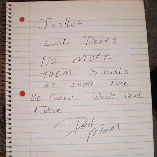 funny parents, best parents, greatest parents, parent notes, mom notes, dad notes, notes from parents, notes from dads, notes from moms, notes from fathers, notes from mothers, notes from parents to child, funny parents notes, funny notes, funny pics, funny photos, funny pictures, funny vids, note, notes, funny notes reddit, funny notes imgur, imgur funny notes,
