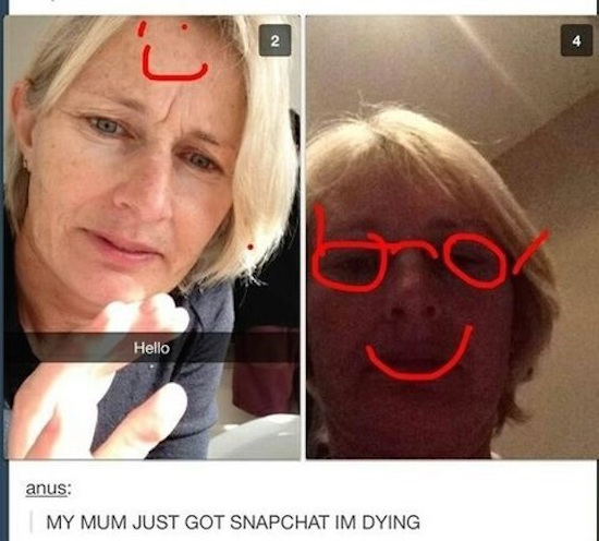 Funniest Meme Pages On Snapchat : Snapchat has been invaded by moms and it s basically the