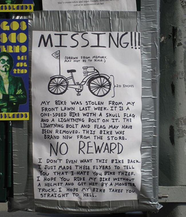 all of these funny lost and found flyers are worth