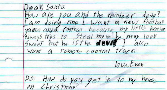 Kids Who Got Really Specific And Really Weird In Their Letters