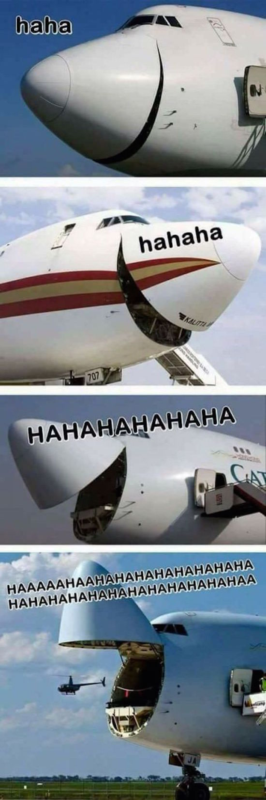 funny picture of planes laughing