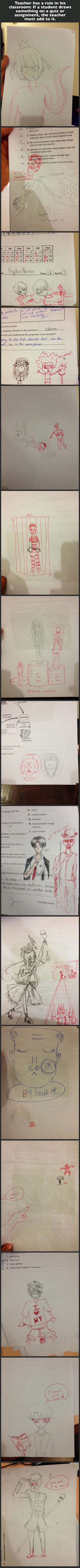 pictures of teacher finishes student drawings
