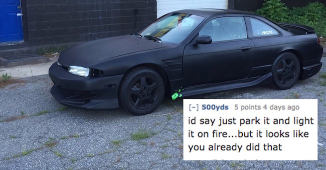 Its Probably Best Not To Let The Internet Roast Your Car - Sports cars reddit