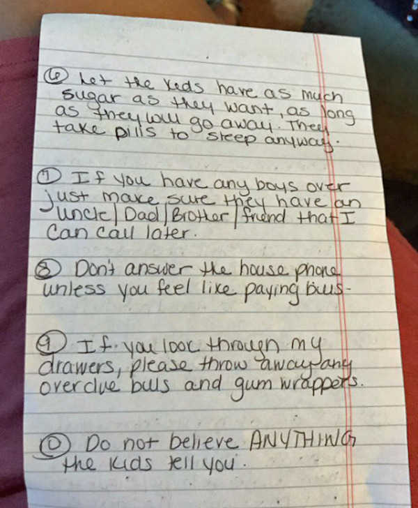 rules for babysitter, tips for babysitter, funny rules, rules funny, funny tips, tips funny, funny list, list funny, funny lists, lists funny, funny rules for babysitter, funny tips for babysitter, funny note, funny notes, funny note for babysitter, funny rules babysitter, babysitter funny rules, parents leave funny rules for babysitter, funny note, funny notes, note funny, notes funny, funniest note, funniest note ever, funniest notes ever, hilarious note, hilarious notes, funniest notes 2016, funniest notes 2017, funniest notes 2018, funniest notes 2019, funniest notes 2020, funniest letters 2016, funniest letters 2017, funniest letters 2018, funniest letters 2019, funniest letters 2020