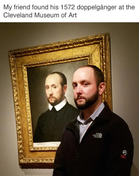 funny pictures for instagram of art doppelganger