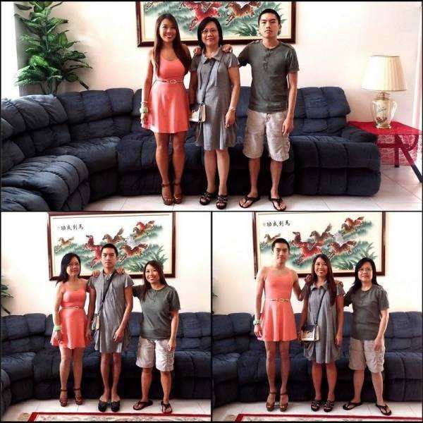 funny pics for facebook of family swaps clothes