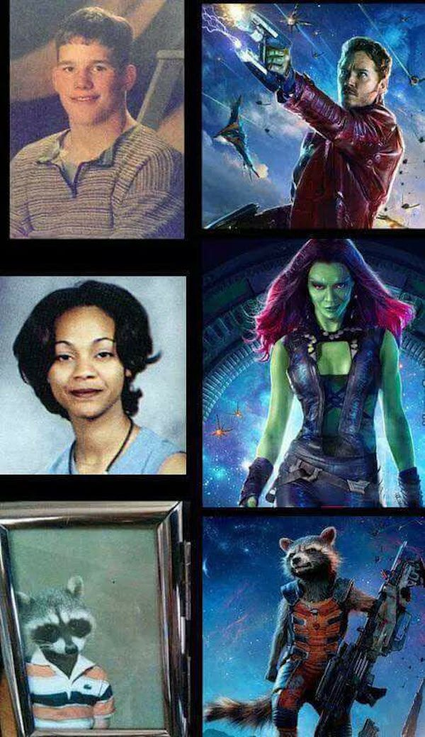 funny pictures for facebook of guardians of the galaxy childhood photos