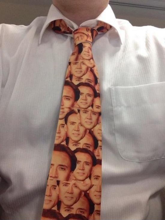 funny pic of nicolas cage tie