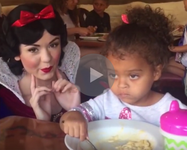 funny video of little girl wants nothing to do with snow white