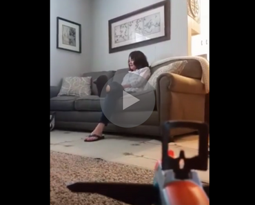 video of guy shooting nerf gun dart into mom's mouth