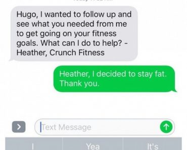 image of decided to stay fat text