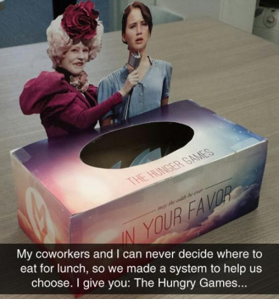 funny pic of hunger games lunch system
