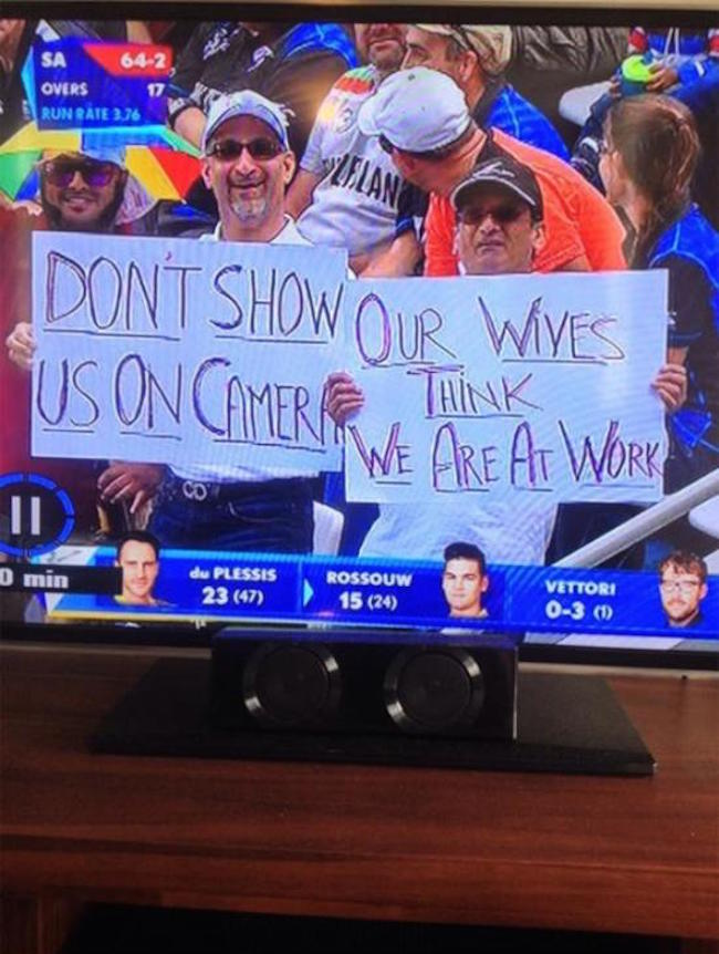 picture of don't show us on camera sign