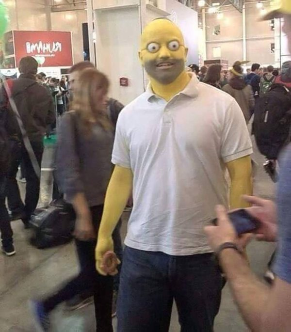 pic of realistic homer simpson cosplay