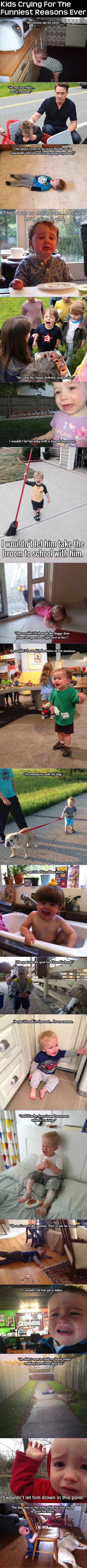 funny pics of kids crying for ridiculous reasons