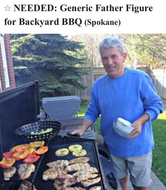 funny craigslist ad for a generic father figure to bbq