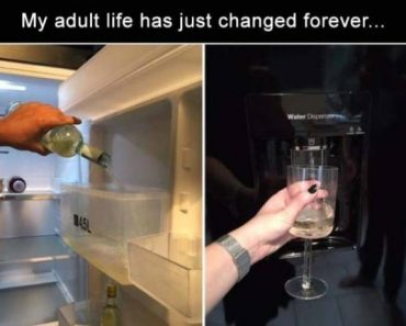 funny image of wine in water dispenser