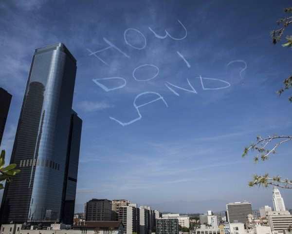 funny photo of how do i land sky writing