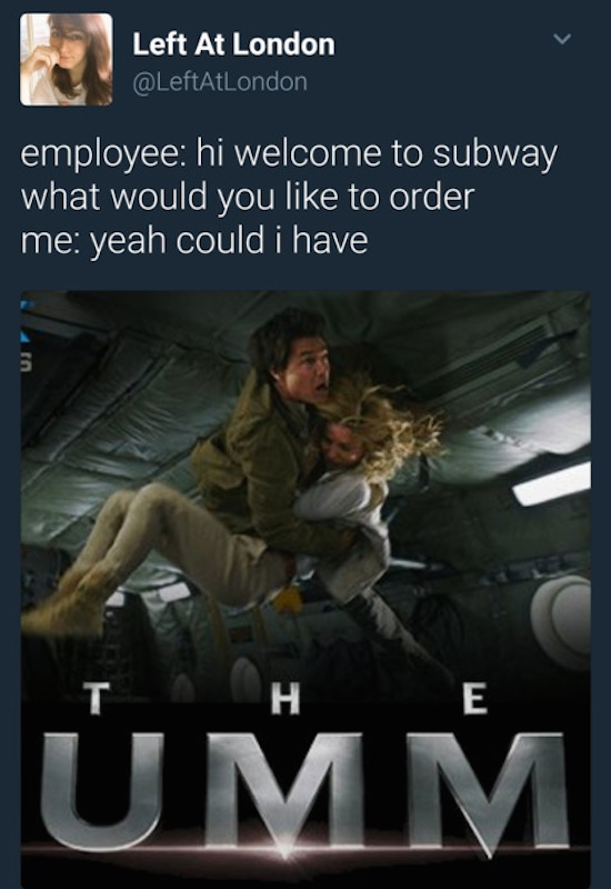 funny image of the mummy poster umm subway tweet