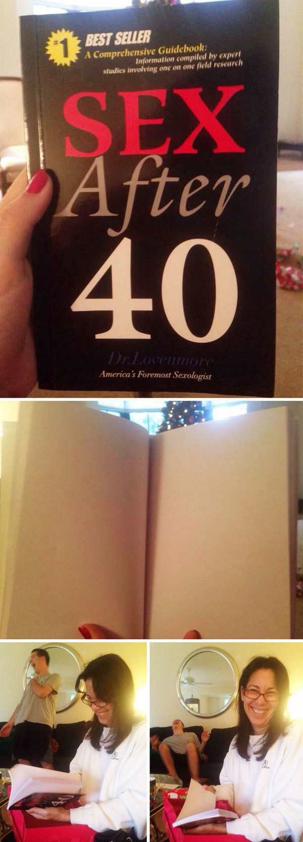 couple pranks ideas of sex after 40 book that's empty