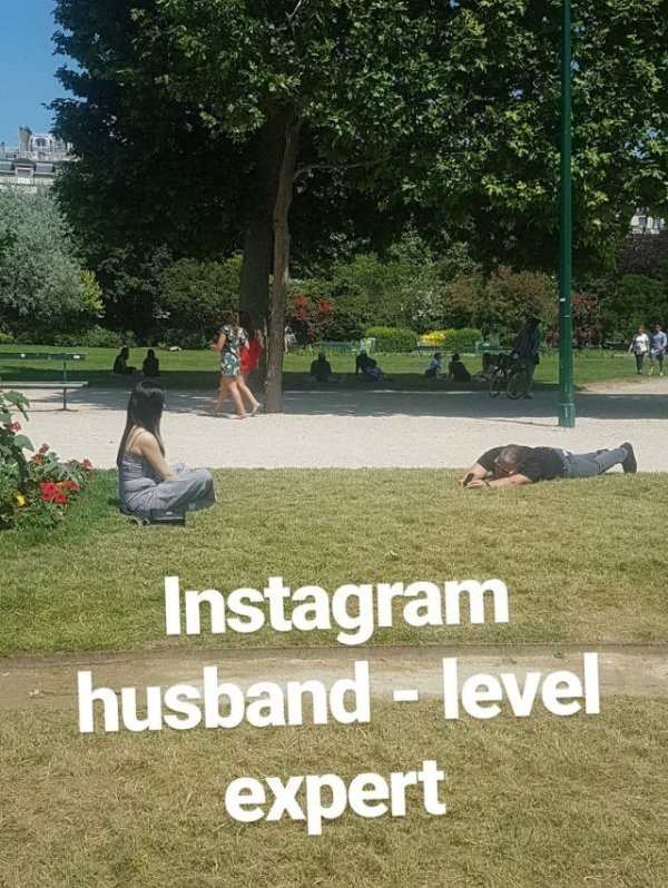 hilarious photo of instagram husband level expert