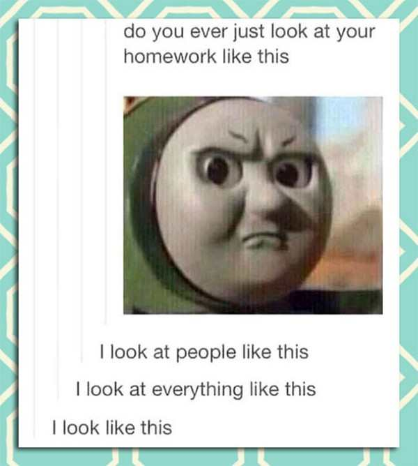 funny pic of angry thomas the tank engine meme