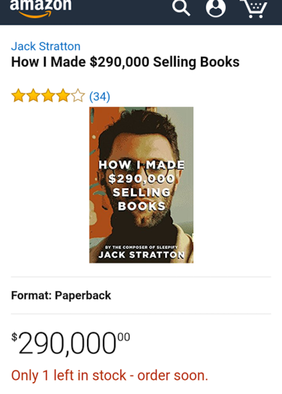 silly photo of how i made 290,000 selling books by jack stratton