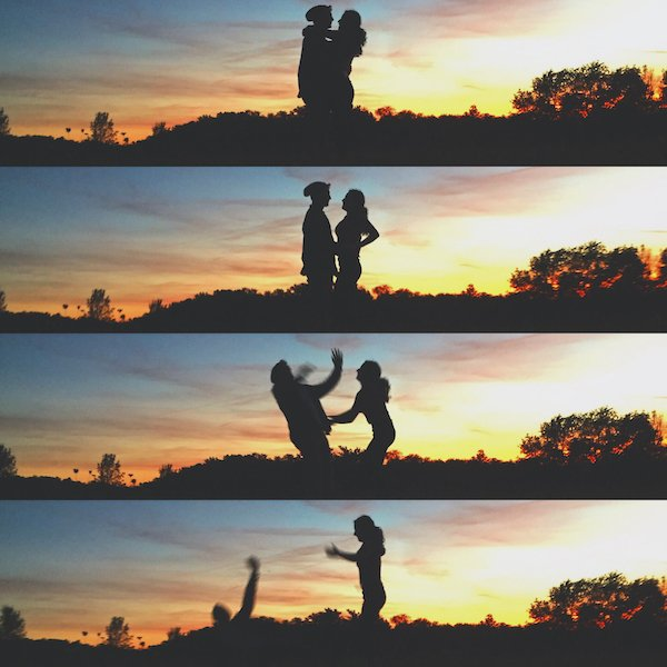 hilarious picture of romantic photos taken at sunset fail