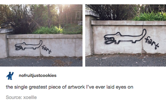 silly pictures of fart art graffiti