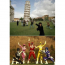 funny pic of people posing with leaning tower of pisa look like power rangers