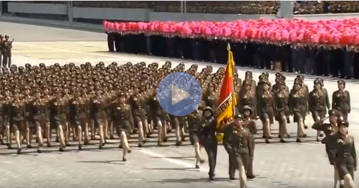 WellHeres The North Korean Army Marching To The Bee Gees